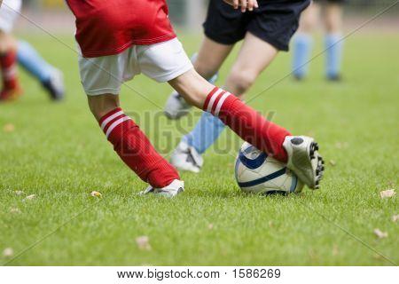 Detail Of A Football Match