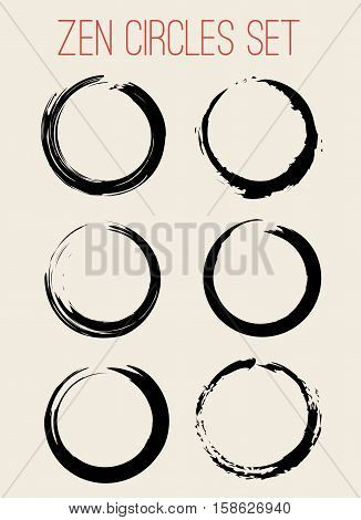 Vector Zen Circles or Stains Set Illustration