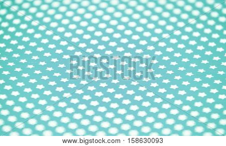 blue wraping paper with white stars background