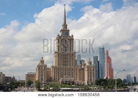 Russia, Moscow 25 May 2016, The hotel Radisson Royal (Ukraine)