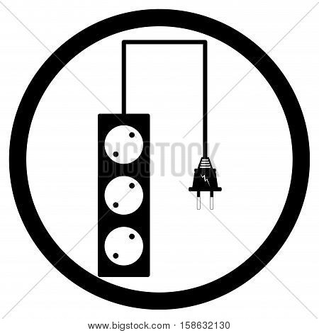 Electric plug and socket electrical outlet vector illustration