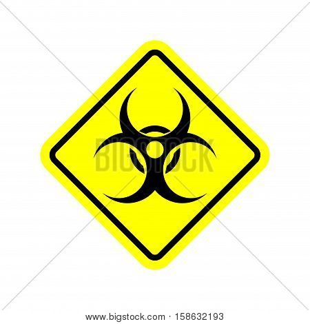 Biohazard Sign. Warning Radiation Hazard. Warning Sign Viral Pollution