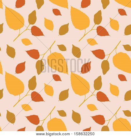 Seamless Pattern With Marvelous Autumn Leaves