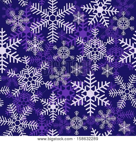 Seamless Christmas pattern with a different snowflakes