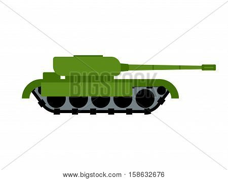 Military Tank Isolated. War Equipment. Army Ground Transportation