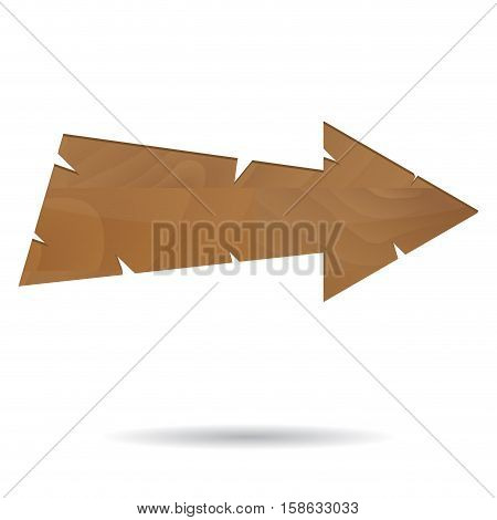 Wooden arrow grunge. Wooden sign and wood arrow wooden arrow sign vector illustration