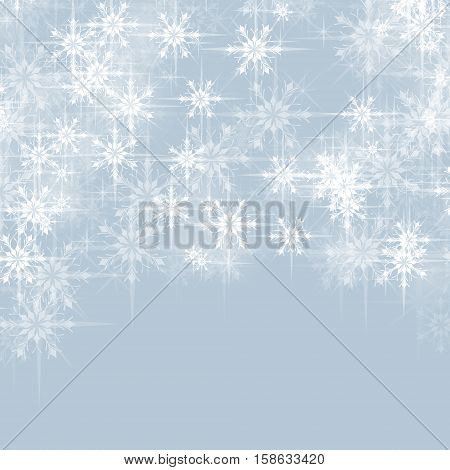 Abstract vector Christmas background greeting with snowflakes