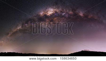 The Milky Way galaxy capture through telescopic imagery November 2016