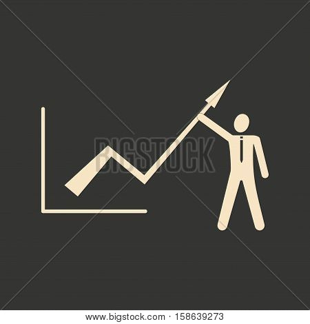 Flat in black white schedule economic and people