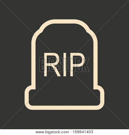 Flat in black and white mobile application headstone
