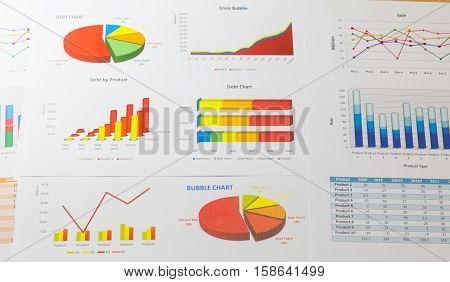 Data financial instruments chart downtrend stock market analysis report