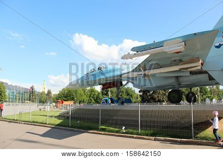 Russia, Moscow 25 May 2016, The Su-27 at the VDNKh