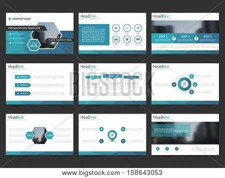 Blue Abstract presentation templates Infographic elements template flat design set for annual report brochure flyer leaflet marketing advertising banner template