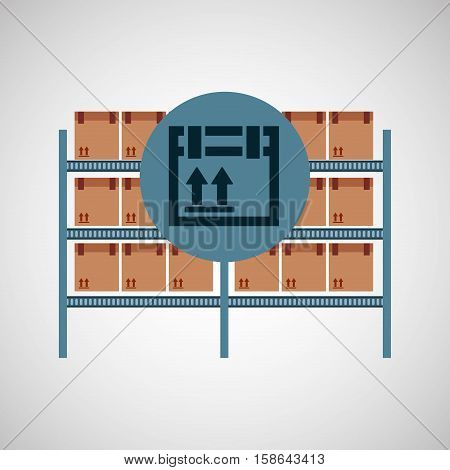 warehouse box fragile icon vector illustration eps 10