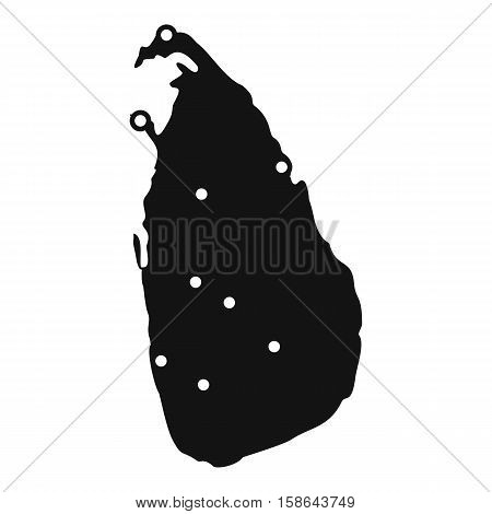 Map of Sri Lanka icon. Simple illustration of map of Sri Lanka vector icon for web