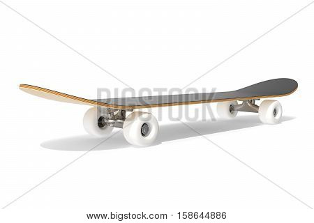 3d rendering skateboard deck isolated on white background