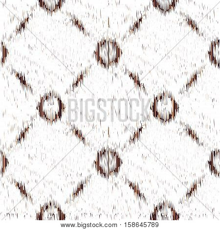 White seamless Ikat Pattern. Abstract background for textile design wallpaper surface textures wrapping paper.