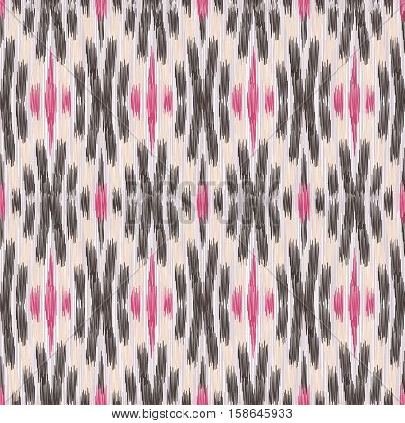 Beige and pink seamless Ikat Pattern. Abstract background for textile design wallpaper surface textures wrapping paper.