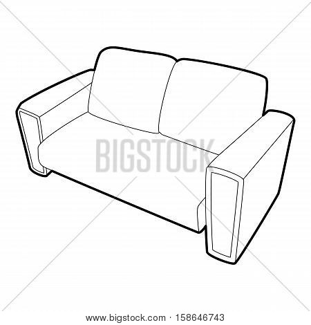 Sofa icon. Isometric 3d illustration of sofa vector icon for web