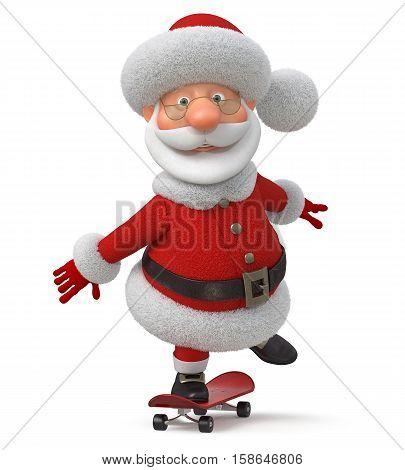 3d illustration the fantastic grandfather congratulates merry Christmas