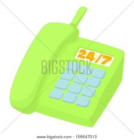 24h support icon. Cartoon illustration of 24h support vector icon for web