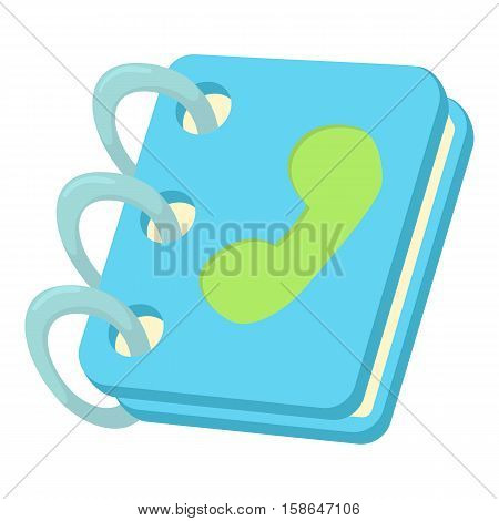 Blue address book icon. Cartoon illustration of blue address book vector icon for web