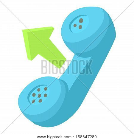Handset outgoing call icon. Cartoon illustration of handset outgoing call vector icon for web