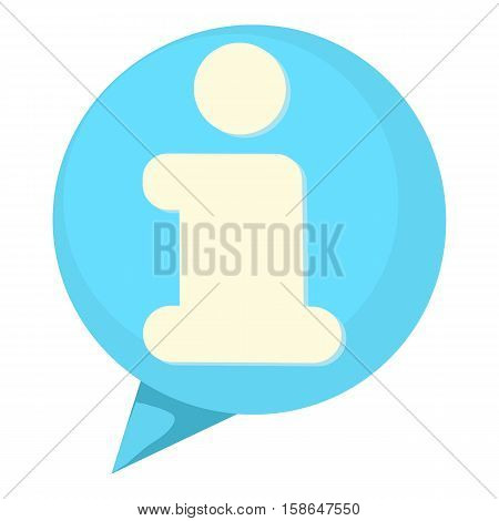 Information speach buble icon. Cartoon illustration of information speach buble vector icon for web