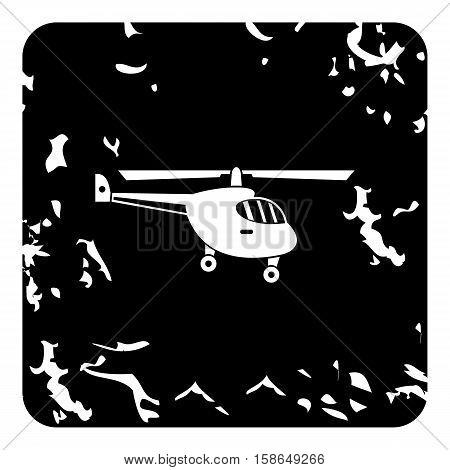Small helicopter icon. Grunge illustration of helicopter vector icon for web design