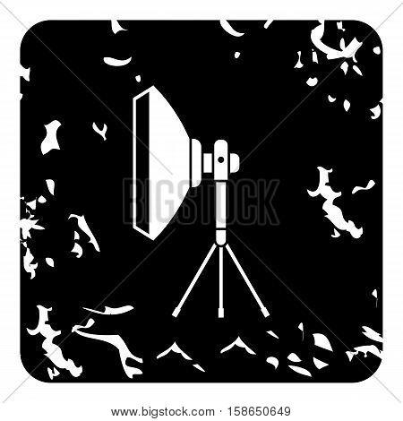 Studio light softbox icon. Grunge illustration of studio light softbox vector icon for web design