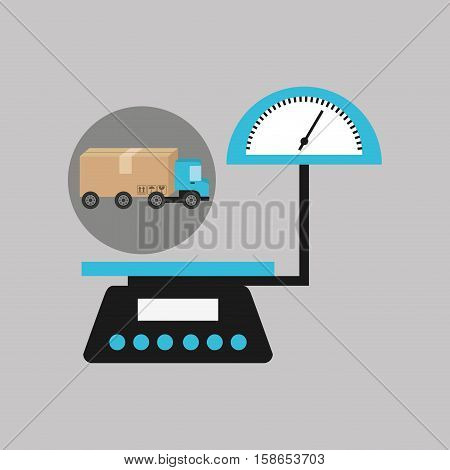 delivery truck concept weight scale icon vector illustration eps 10