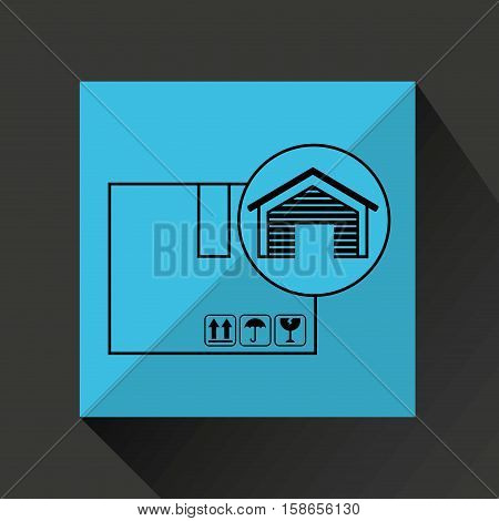 storage building cardboard box delivery icon vector illustration eps 10