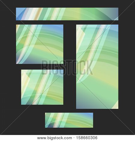 Design elements presentation template. Set website banners background backdrop blurred glow light effect. Vector illustration EPS 10 for web buttons template business card layout web site standard