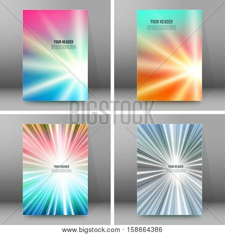 Set Of Glow Theme Brochure Cover Page A4 Format02