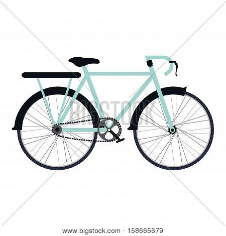 colorful silhouette with bicycle and rack vector illustration