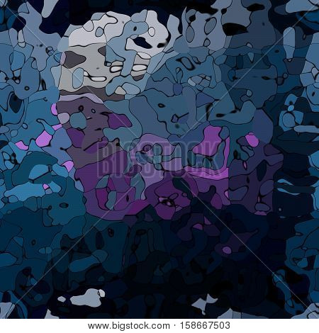 abstract stained pattern texture background - dark blue and purple colors with black outlines