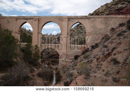 Bridge Of Four Eyes In Aspe