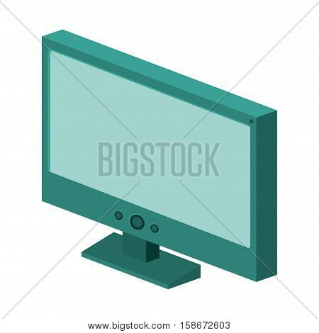 colorful silhouette with lcd monitor vector illustration