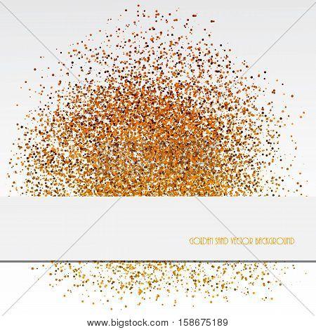 Golden sand abstract background. Decorative pattern design. Vector illustration.