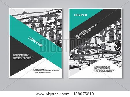 Cover design annual report brochure. Booklet layout creative template. Vector illustration. Promotion page modern marketing flyer.