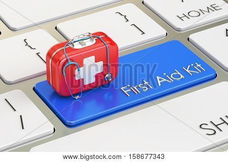 First Aid Kit button on keyboard 3D rendering