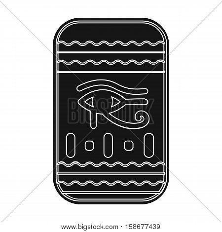 Eye of Horus icon in black style isolated on white background. Ancient Egypt symbol vector illustration.