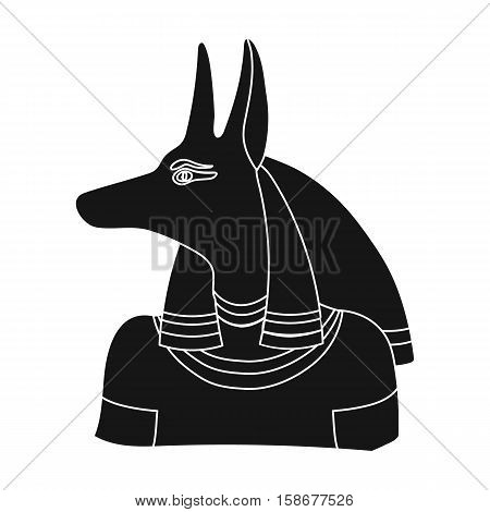 Anubis icon in black style isolated on white background. Ancient Egypt symbol vector illustration.
