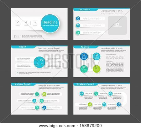 Set of color infographic elements for presentation templates. Leaflet, Annual report, book cover design. Brochure, layout, Flyer layout template design.