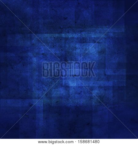 abstract colored scratched grunge background - dark blue