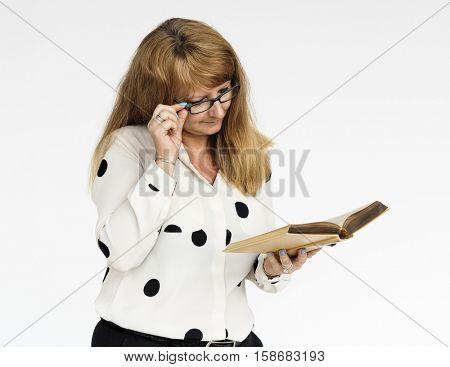 Woman Reading Book Novel Fiction Concept