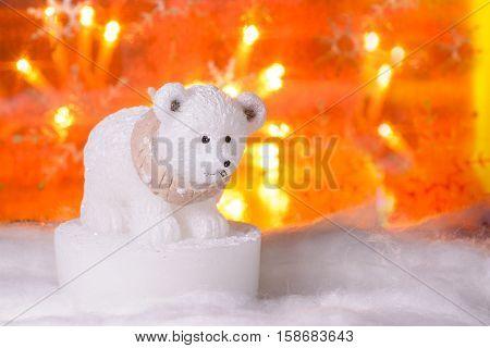 Polar Bear, Happy New Year 2017, Christmas