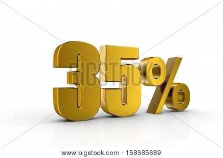 3d illustration 35%