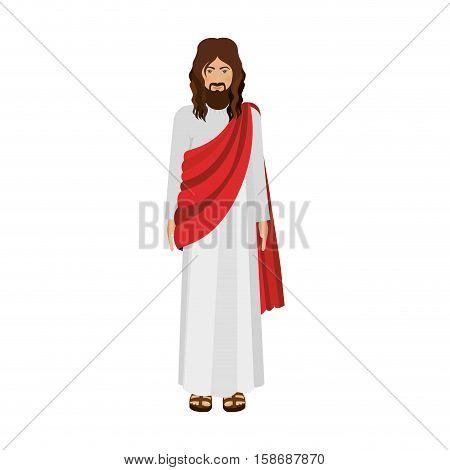 figure human of Jesus Christ vector illustration