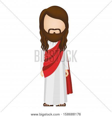 avatar figure human of jesus christ vector illustration